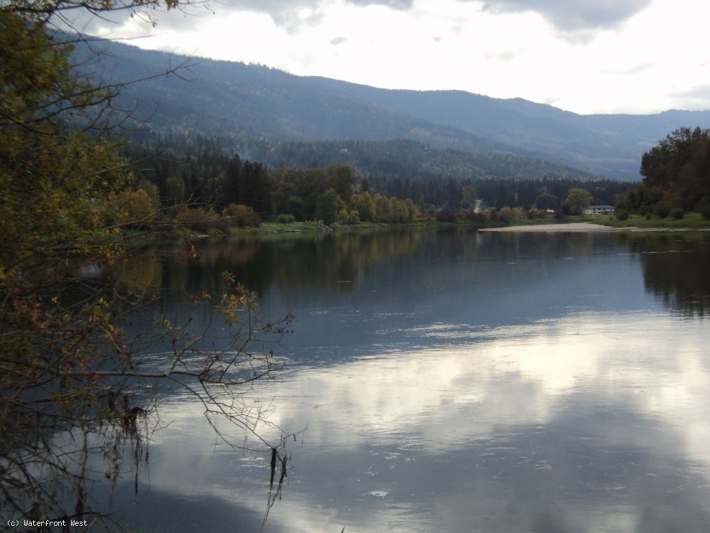 Fully Serviced Waterfront lot for sale at Mara Lake B.C. 15 km South of Sicamous off Highway 97A.