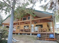 Lakefront Log Home with 190' Frontage and 60' Dock
