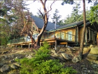 Southfacing Waterfront Home Log Home